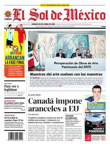 f0d682d641 El Sol de México 30 de junio 2018 by El Sol de México - issuu