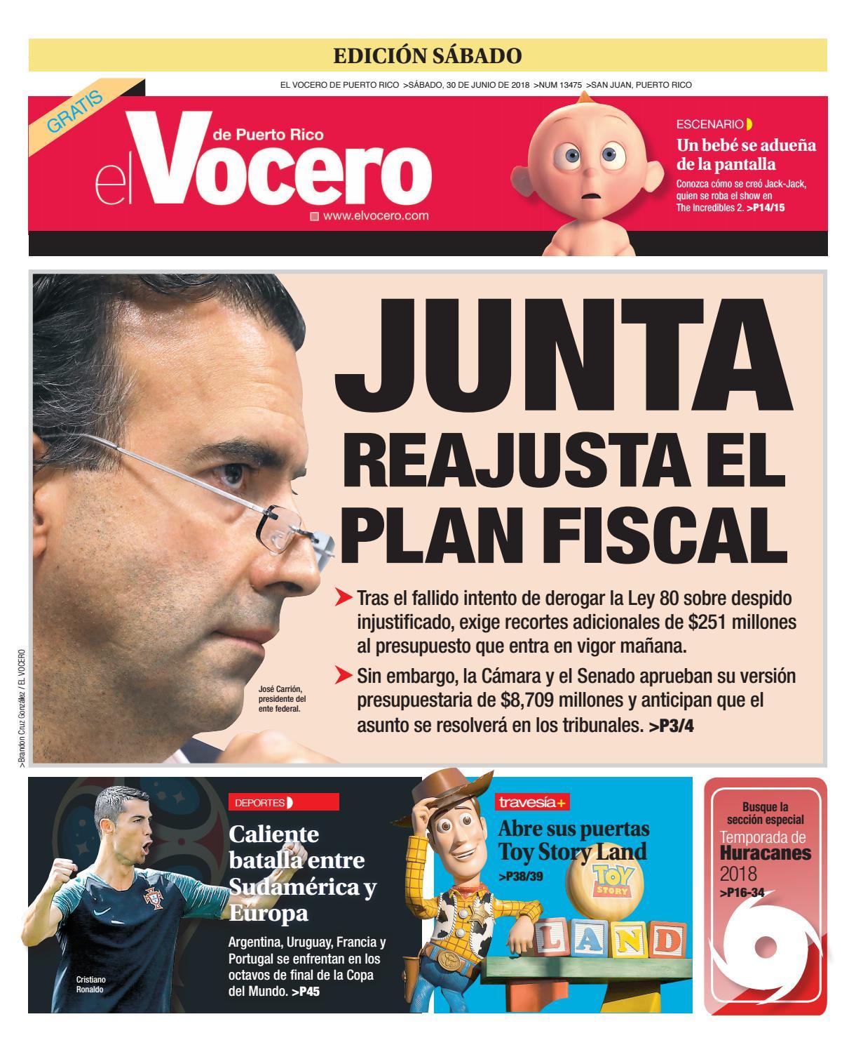 33a0ef09a Edición del 30 de junio de 2018 by El Vocero de Puerto Rico - issuu