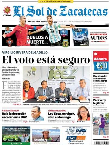 3fba94ed3c4f1 El Sol de Zacatecas 30 de junio 2018 by El Sol de Zacatecas - issuu
