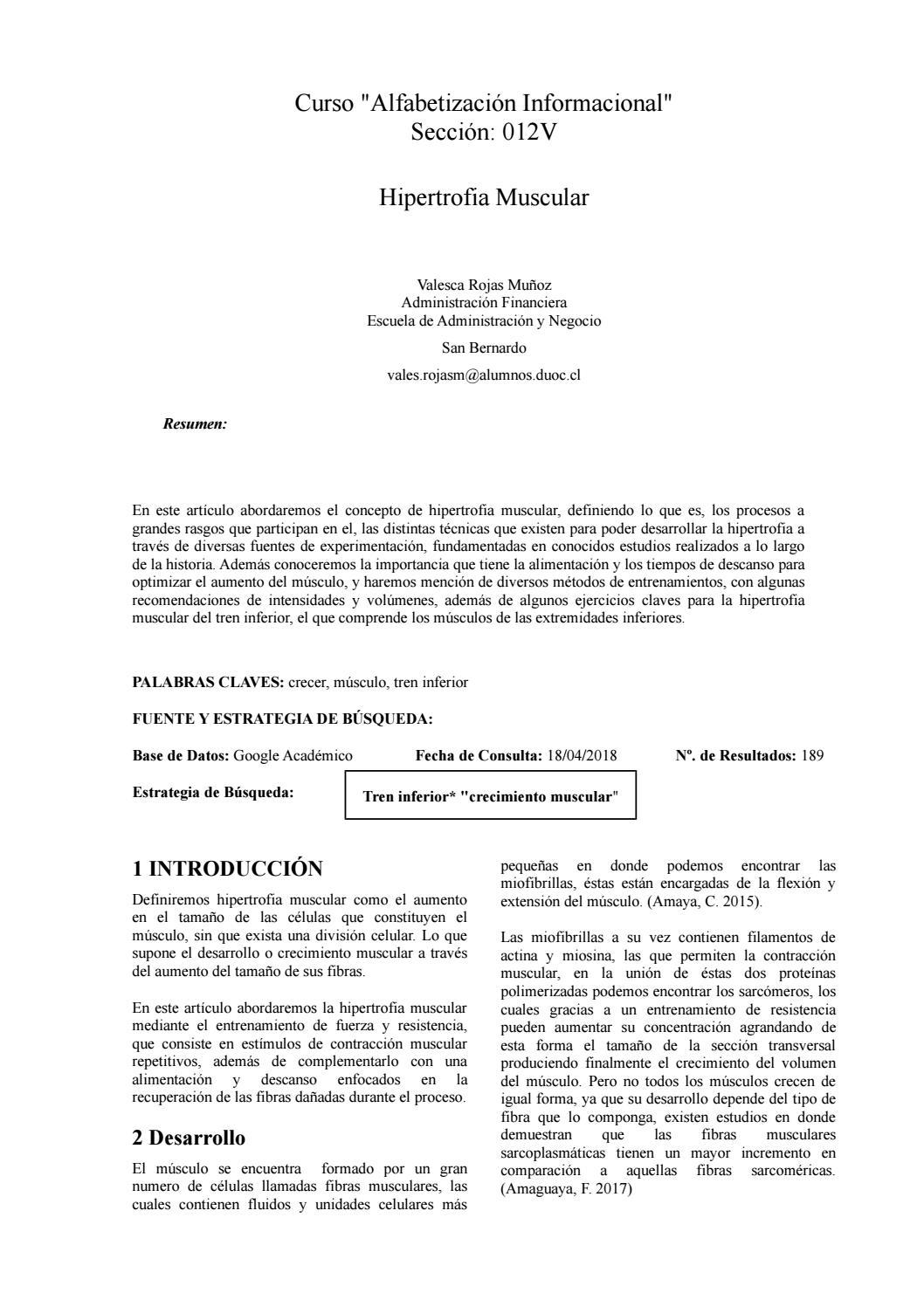 proceso de hipertrofia muscular pdf