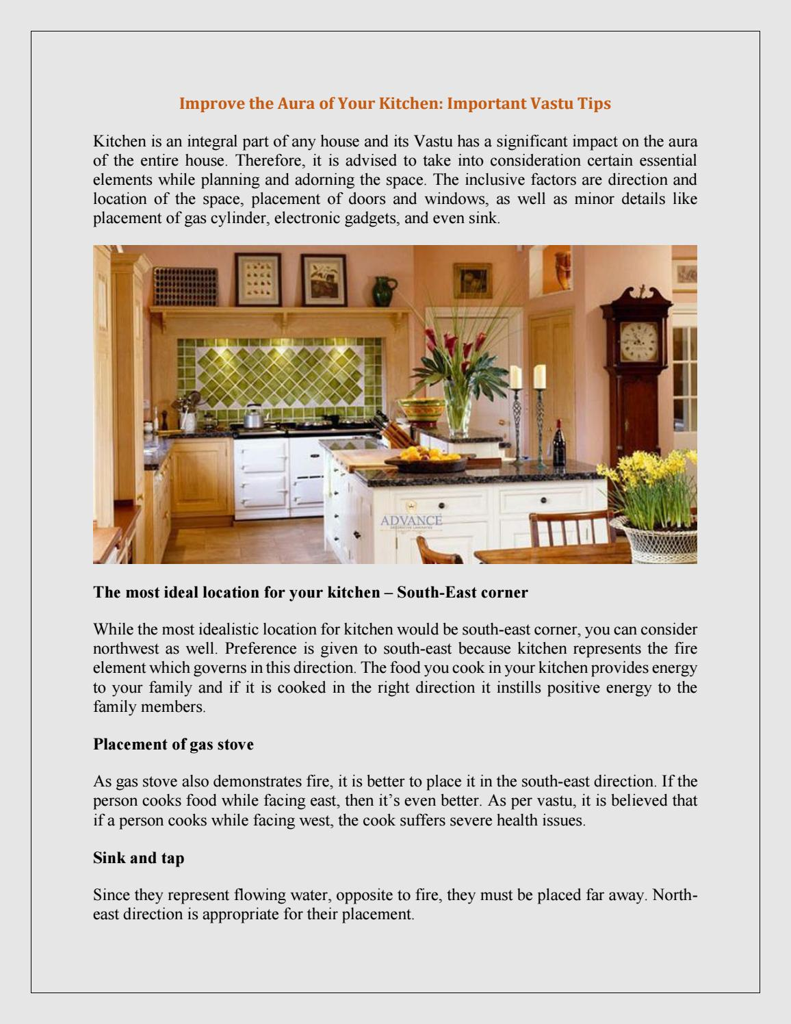 Improve the Aura of Your Kitchen: Important Vastu Tips by ...