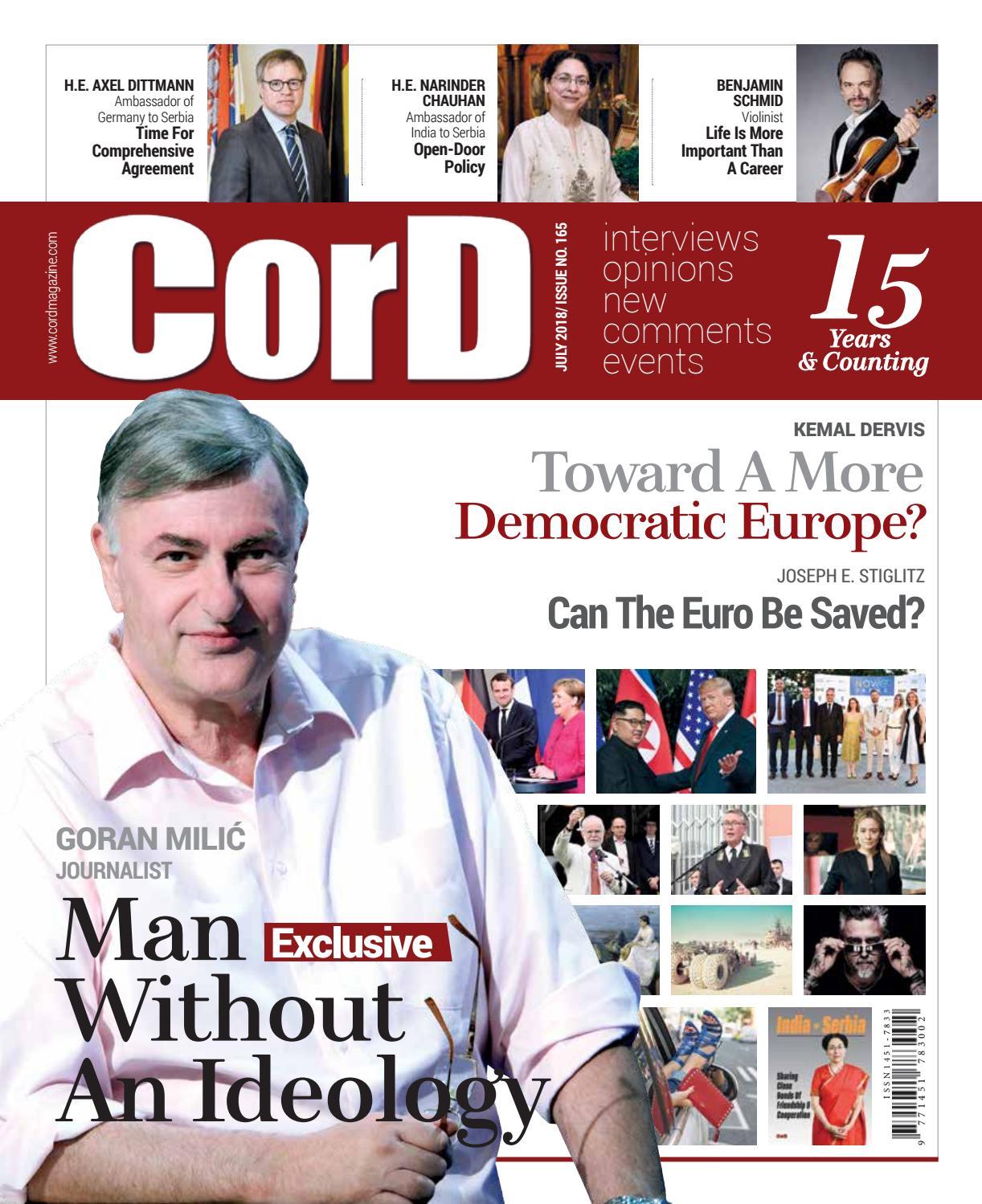 CorD Magazine, July 2018 Issue, No 165