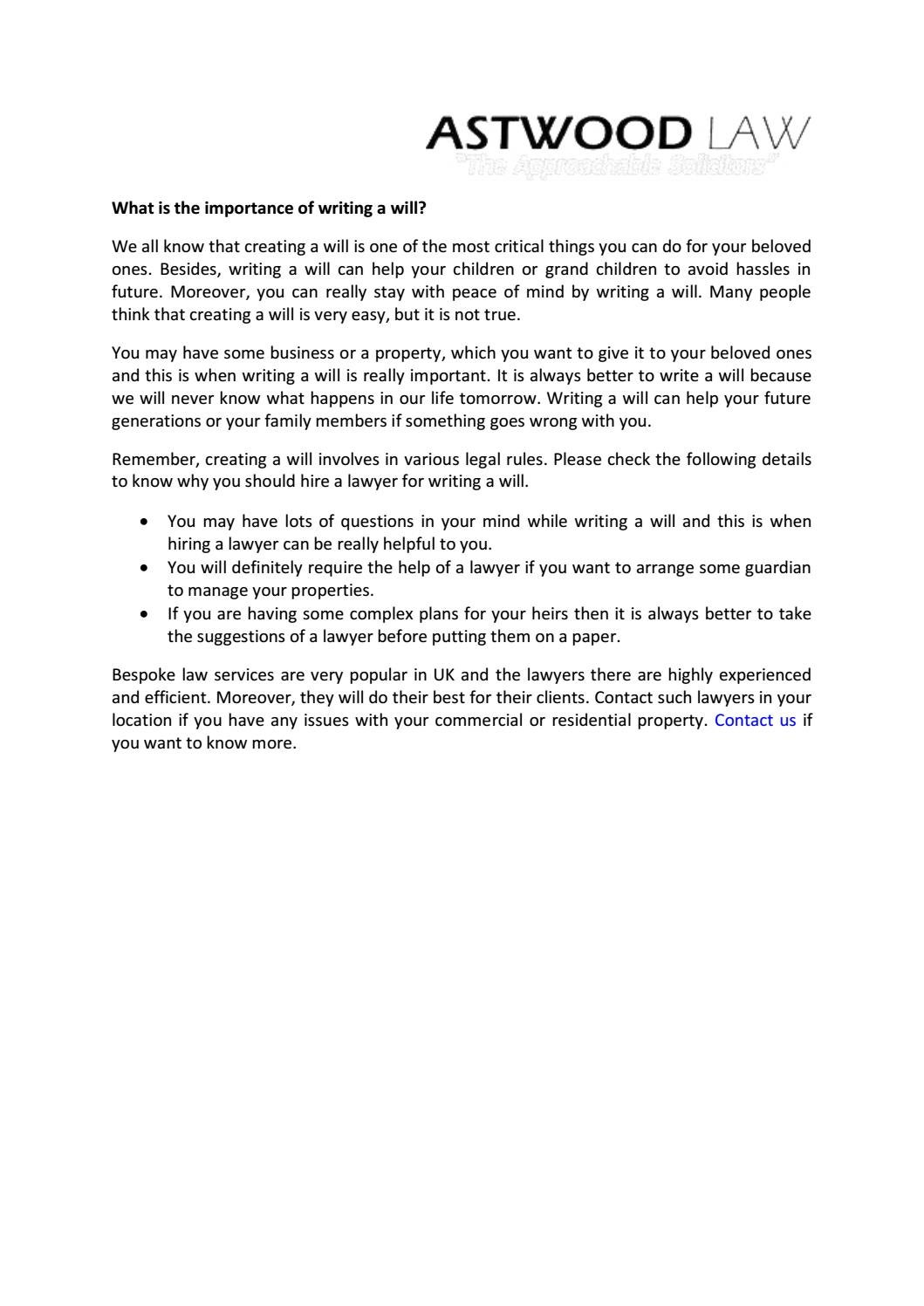 What is the importance of writing a will by Rohit Pattanaik