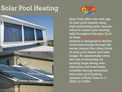 Best Solar Pool Heating System By Northern Lights Solar Solutions