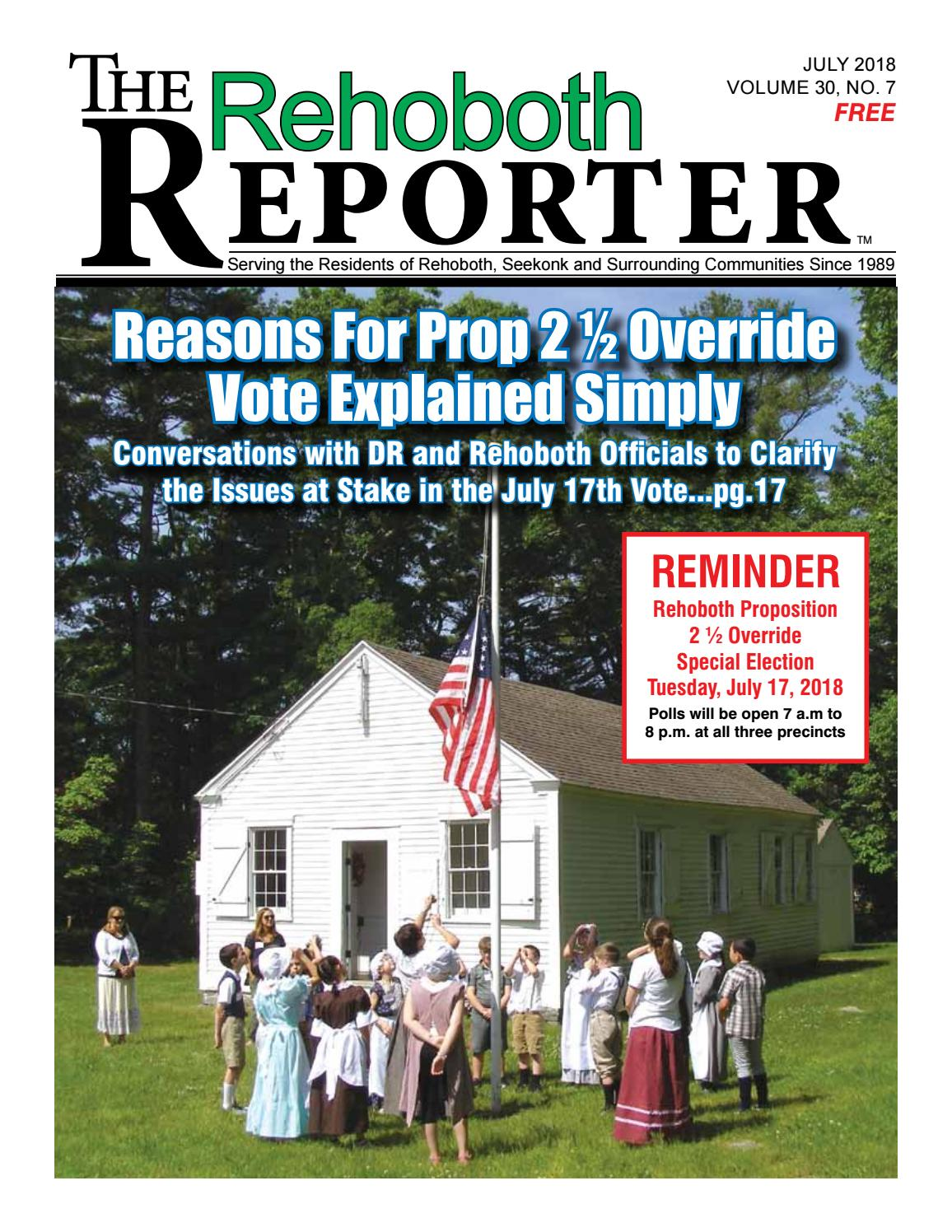 9b5f2b244190 July 2018 Rehoboth Reporter by Dick Georgia - issuu