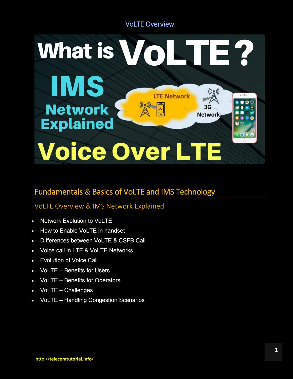 VoLTE Voice over LTE Explained - Complete End to End VoLTE