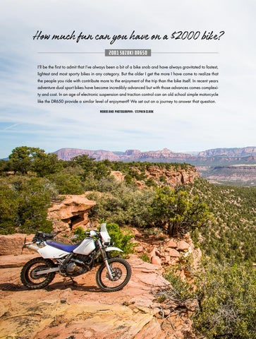 Page 60 of How much fun can you have on a $2000 bike - 2001 Suzuki DR650