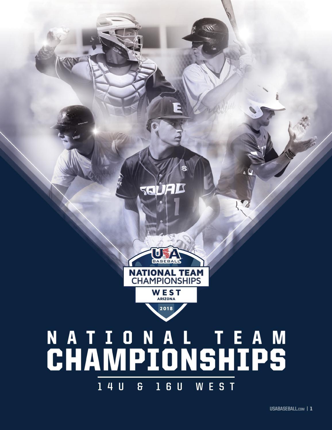 2018 National Team Championships Program - 14U & 16U West by USA