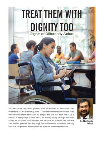 Page 30 of Treat them with dignity too. Rights of the Differently abled in India.