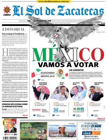 El Sol de Zacatecas 1 de julio de 2018 by El Sol de Zacatecas - issuu 3bbcd3092940