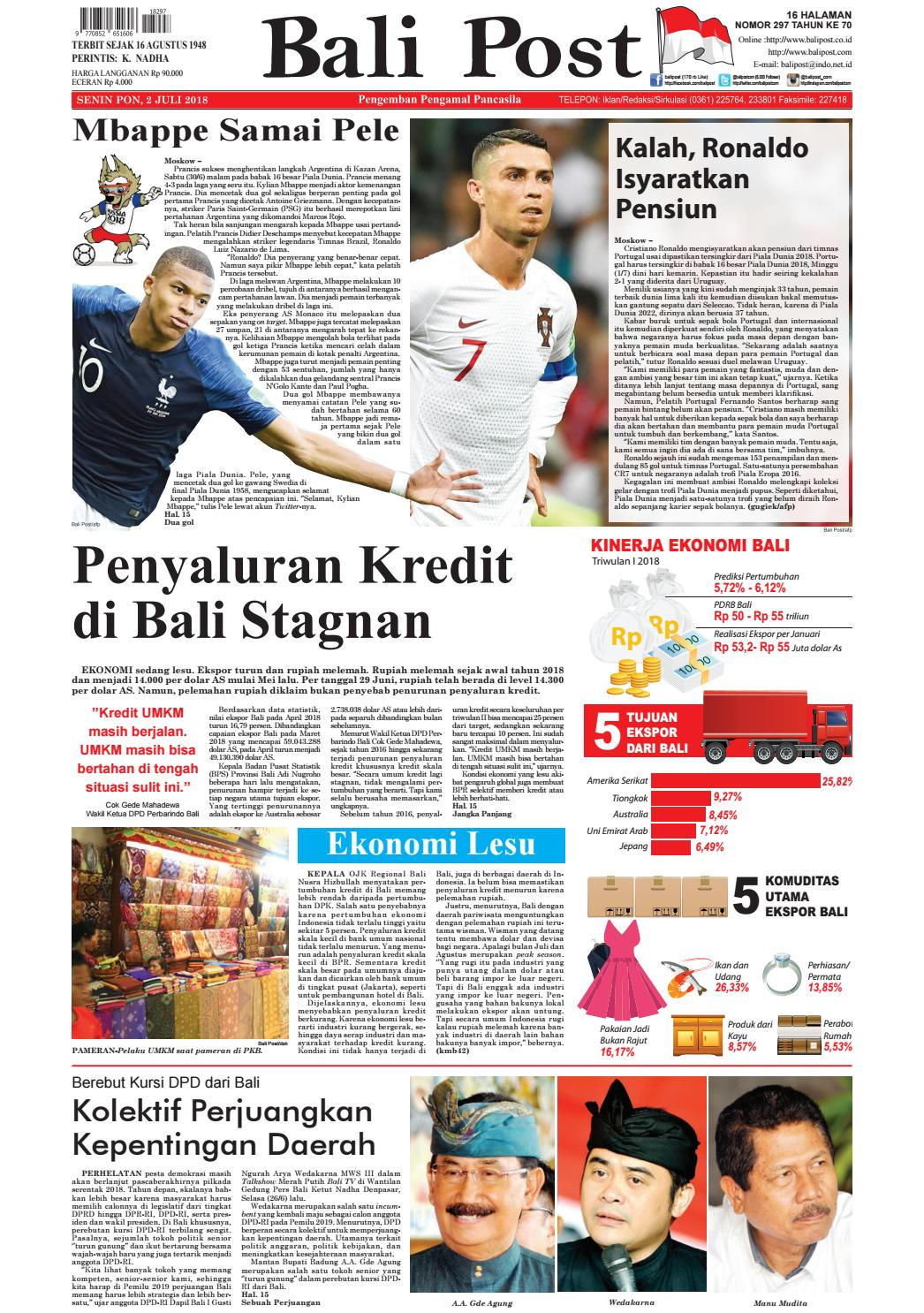Edisi 2 Juli 2018 Balipostcom By E Paper Kmb Issuu Produk Ukm Bumn Ring Berlian Eropa