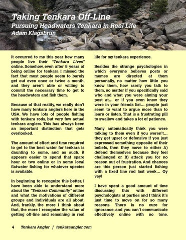 Page 6 of Taking Tenkara Off-Line