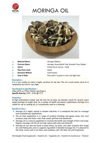 Moringa oil by Siam Trade Development - issuu