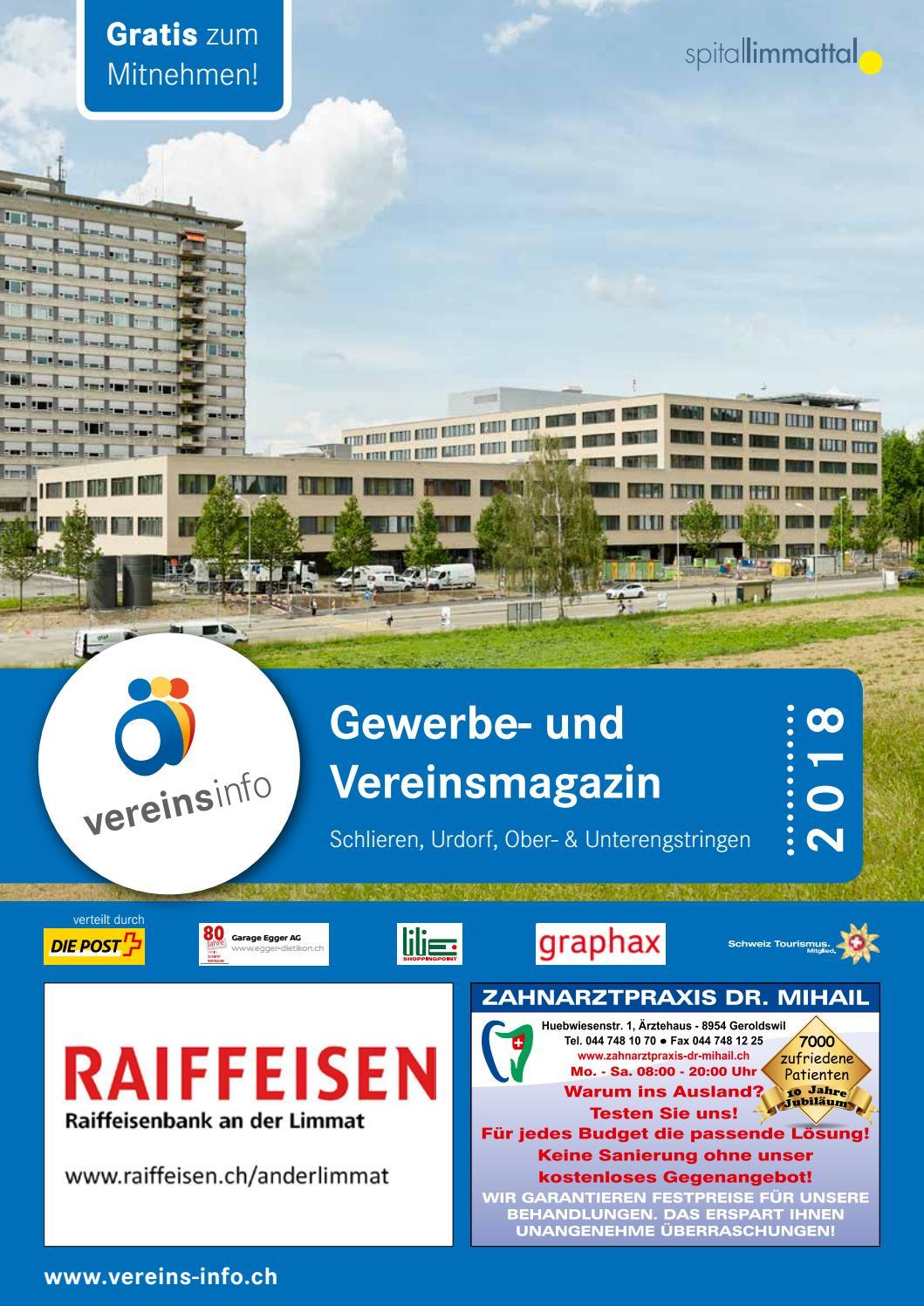 Gewerbe und Vereinsinfo Region Schlieren 2018 by Miplan AG