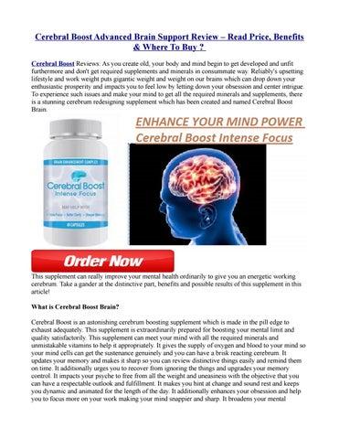 Cerebral Boost – (Australia) Nootropic for More Focus