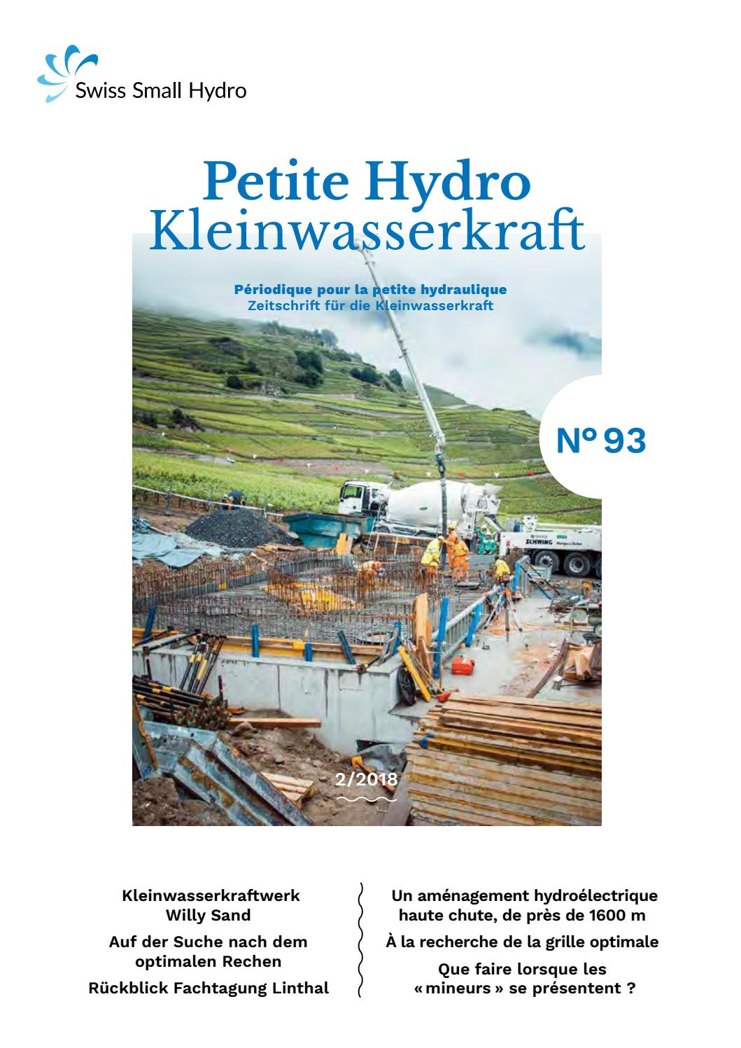 Kleinwasserkraft Petite Hydro N 93 By Swissmallhydro Issuu