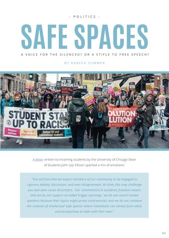 Page 95 of SAFE SPACES: A VOICE FOR THE SILENCED? OR A STIFLE TO FREE SPEECH?