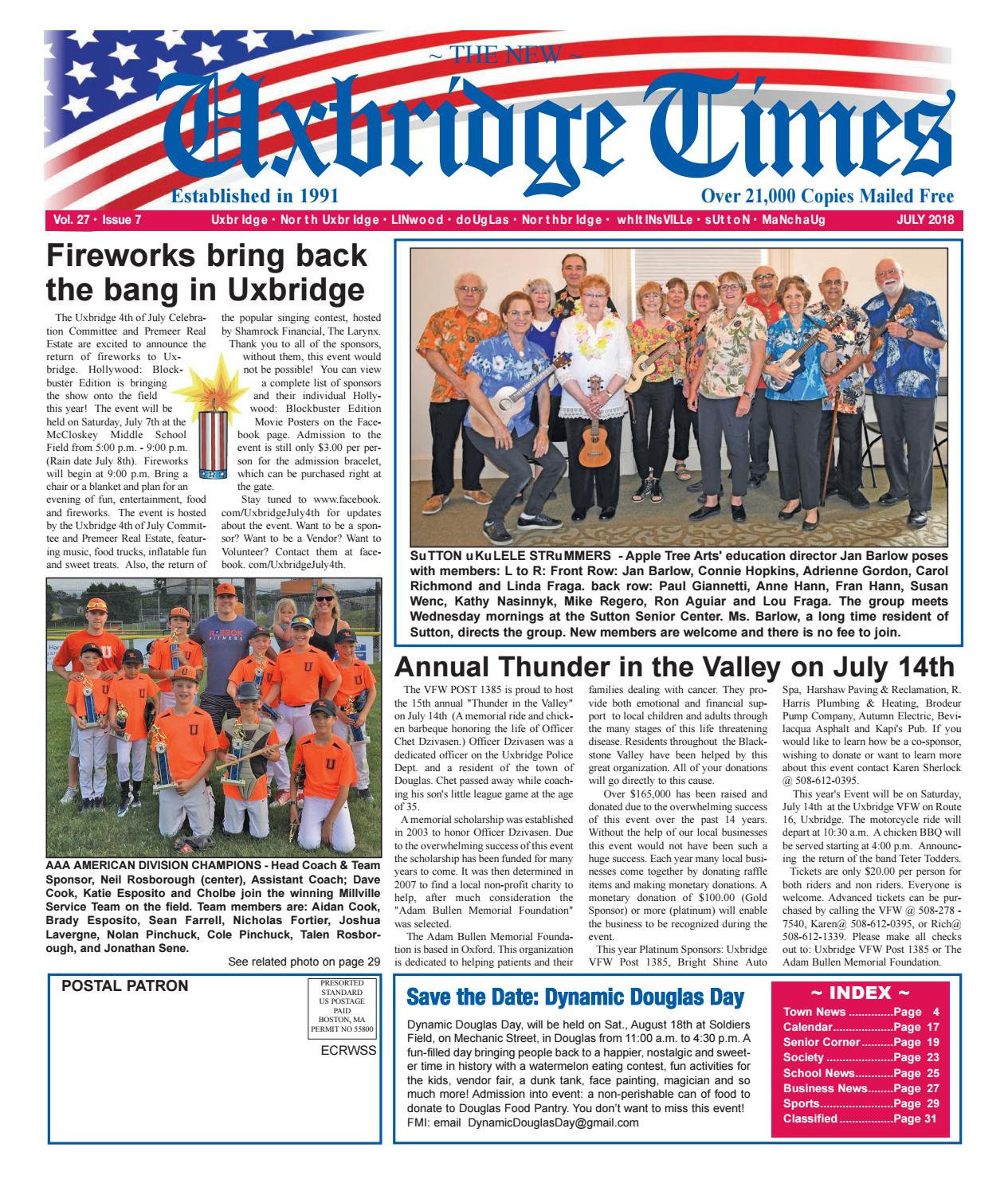 The New Uxbridge Times - July, 2018 by The New Uxbridge Times - issuu