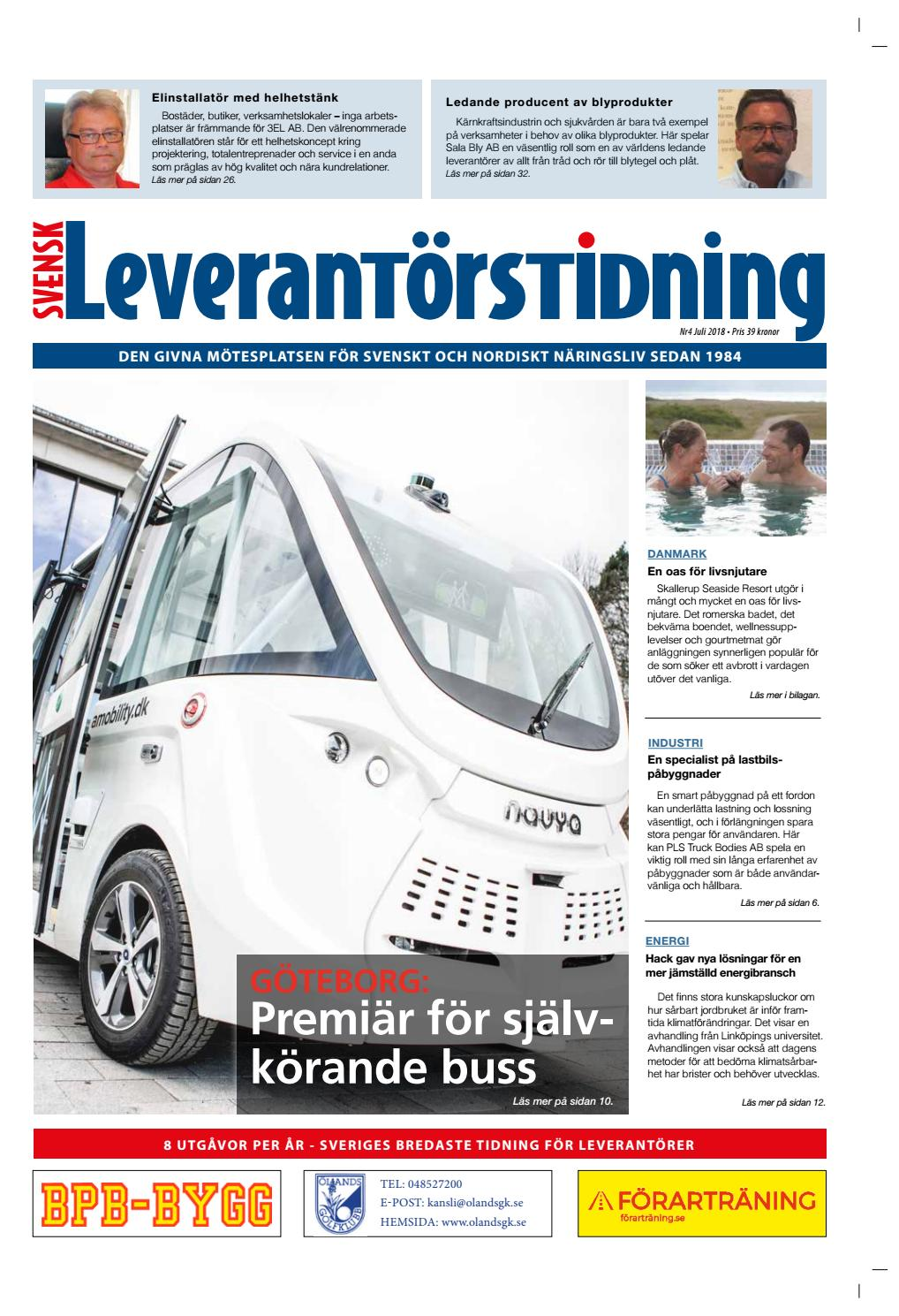 f52e15ca2ba Svensk Leverantörstidning nr-4 2018 by Hexanova Media Group AB - issuu