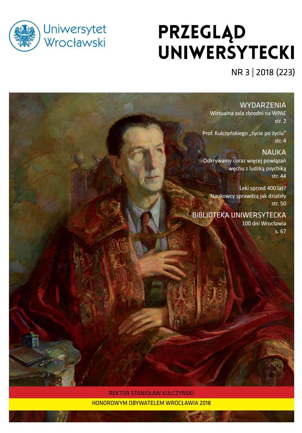 15ba4efafc35b7 Przegląd Uniwersytecki (Wrocław) R.24 Nr 3 (223) 2018 by Uniwersytet  Wrocławski - issuu