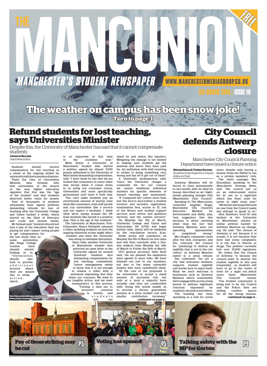 b1ccb46e58901c Issue 18 by The Mancunion - issuu