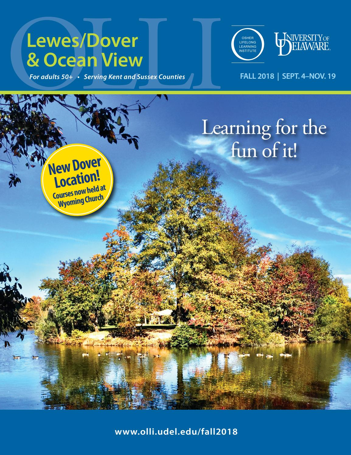 UD Osher Lewes/Dover Catalog, Fall 2018 by University of Delaware ...