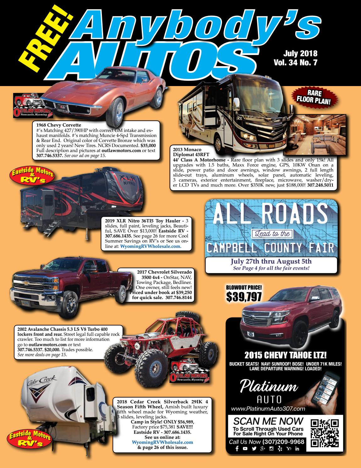 July 2018 by Anybodys Autos - issuu