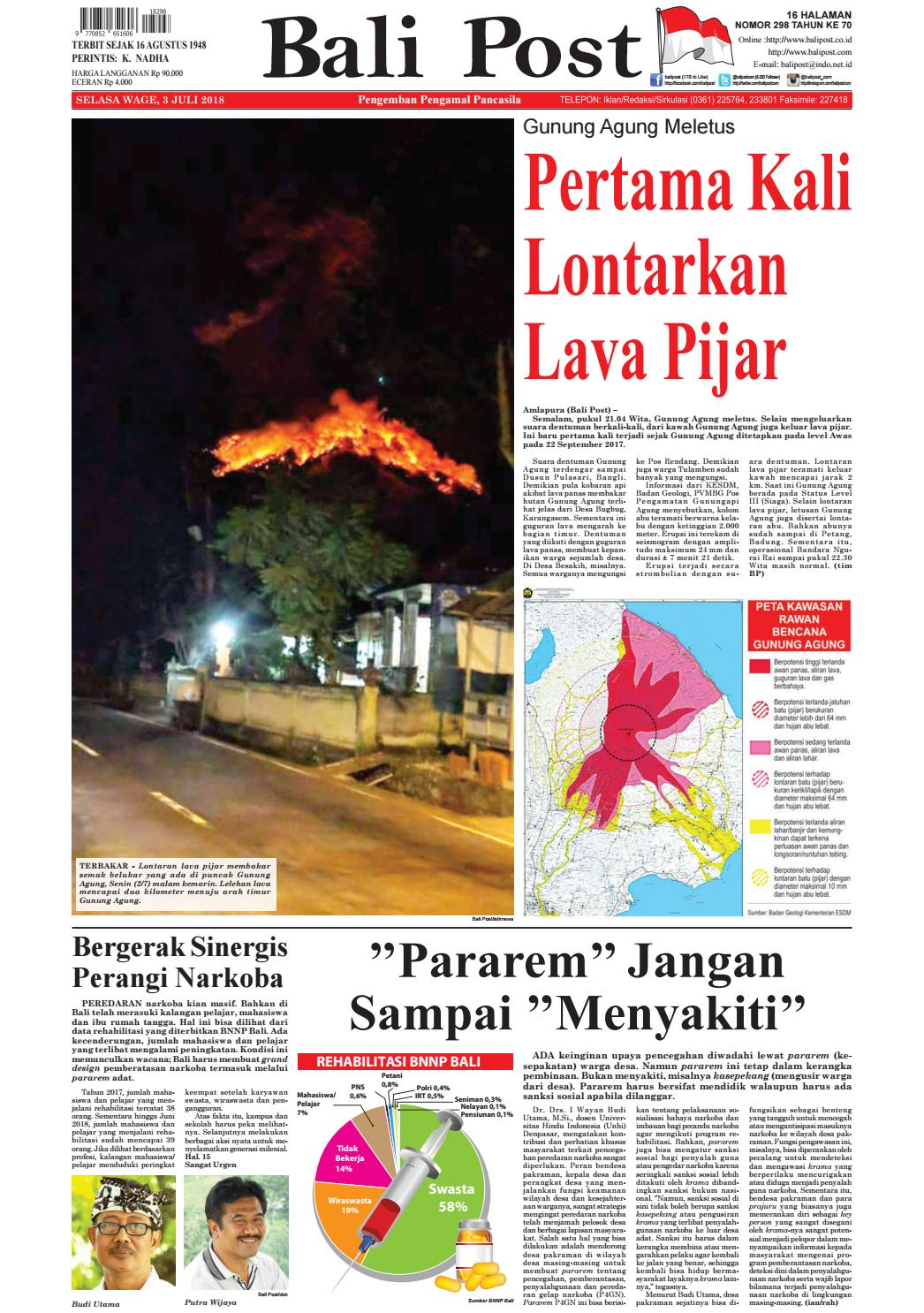 Edisi Selasa 3 juli 2018 | Balipost com by e-Paper KMB - issuu