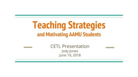 FFLC #2 Workshop: Teaching Strategies and AAMU Students