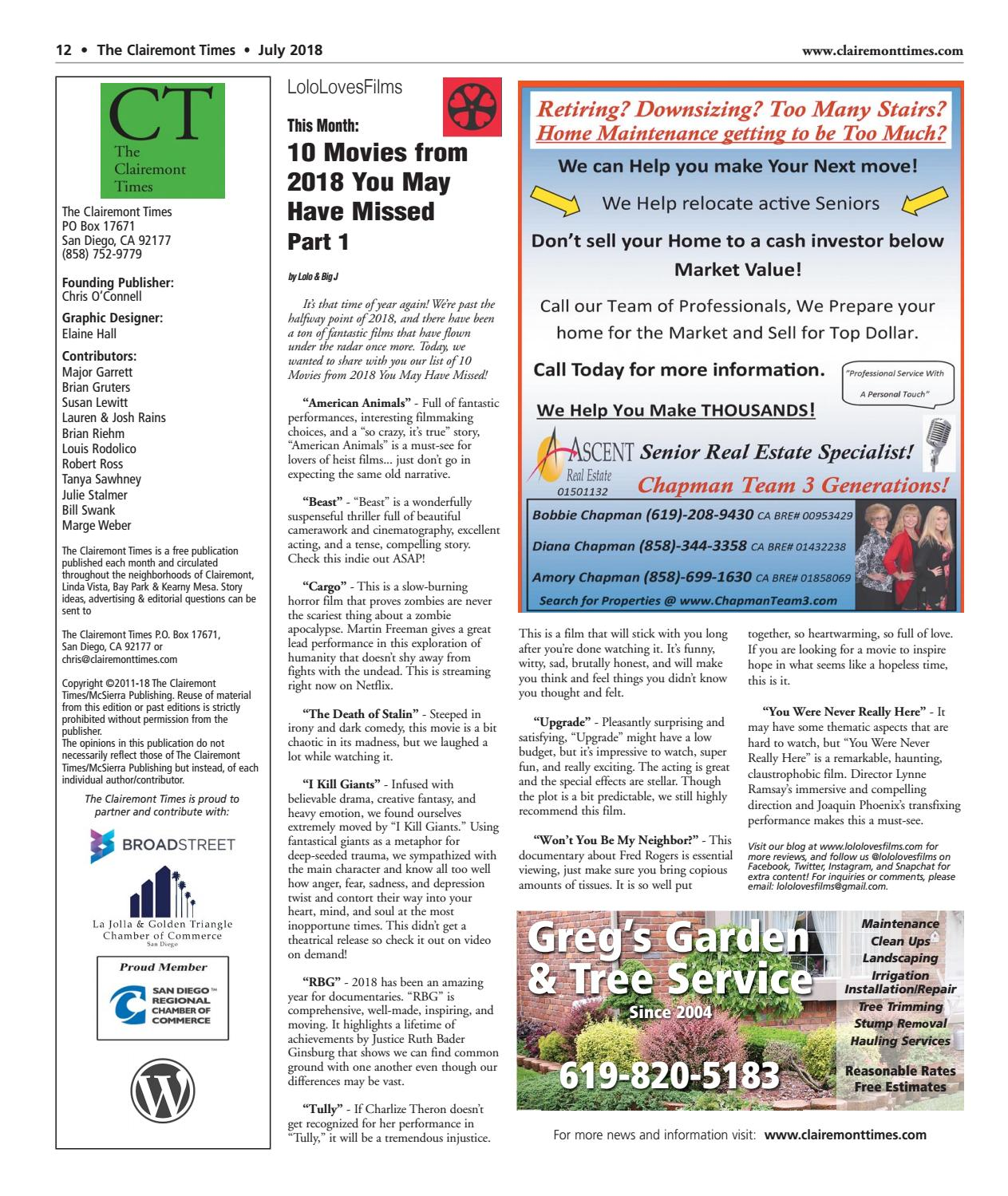 Clairemont Times July 2018 by Clairemont Times - issuu