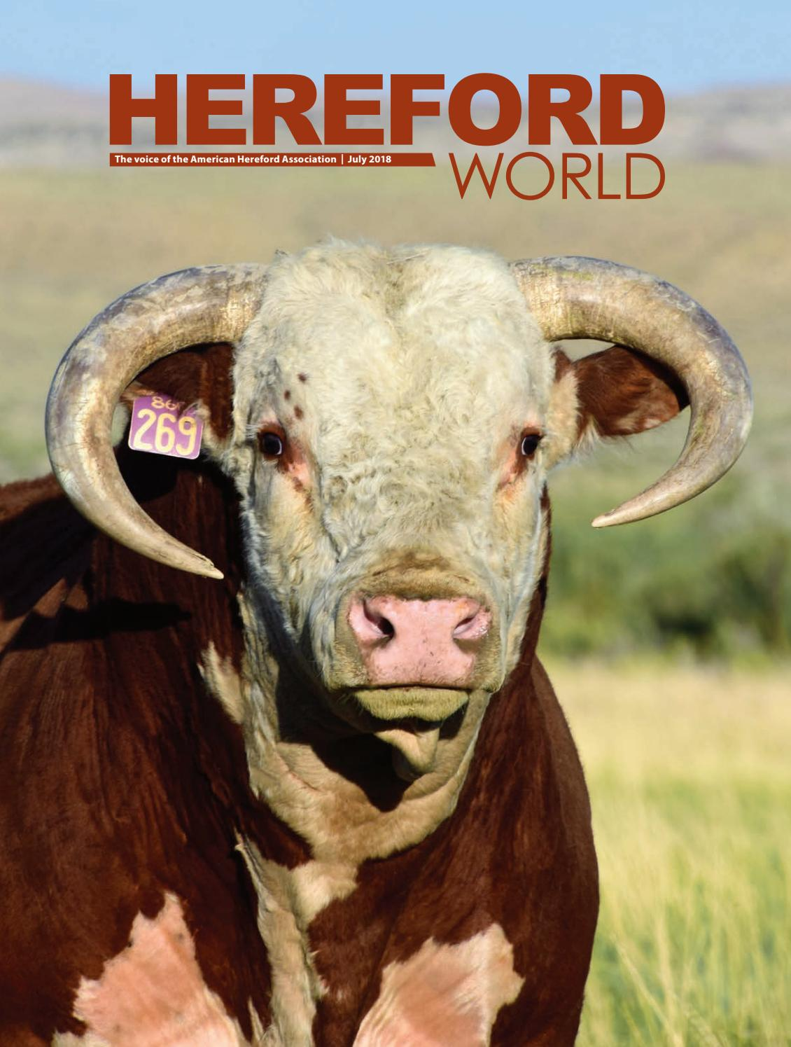 85f2f1283 July 2018 Hereford World by American Hereford Association and Hereford  World - issuu