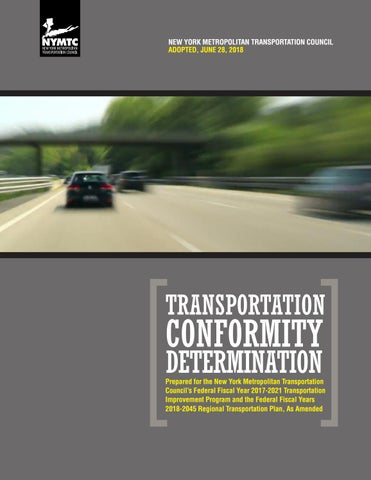 NYMTC's Transportation Conformity Determination by New York
