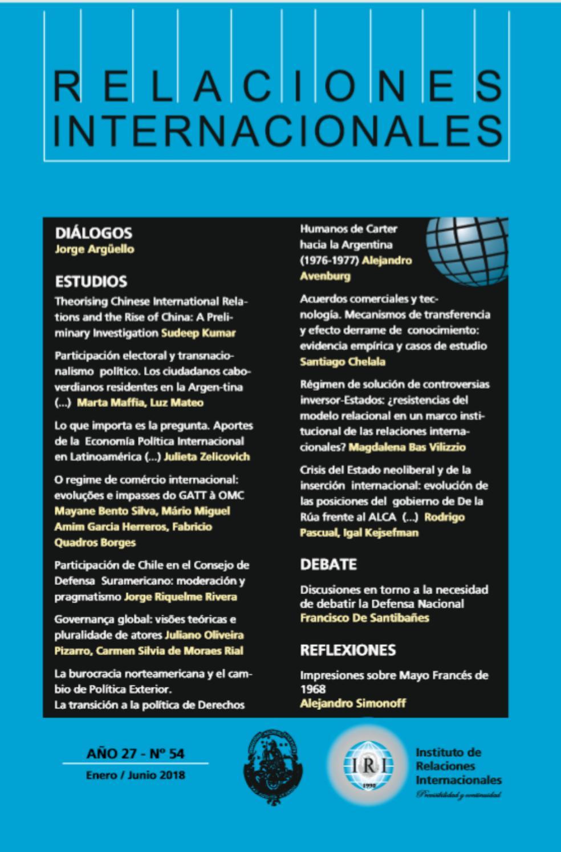Revista Iri N54 By Instituto De Relaciones Internacionales