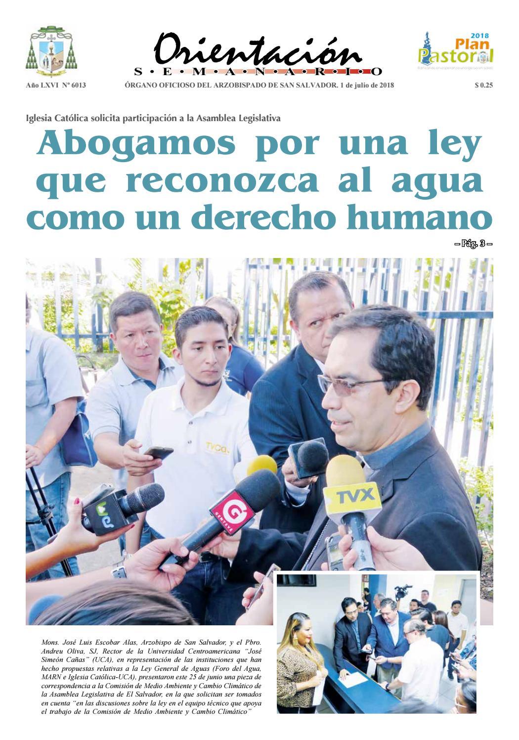 eb2176f849931 Semanario Orientación 1 julio de 2018 by Arzobispado de San Salvador - issuu