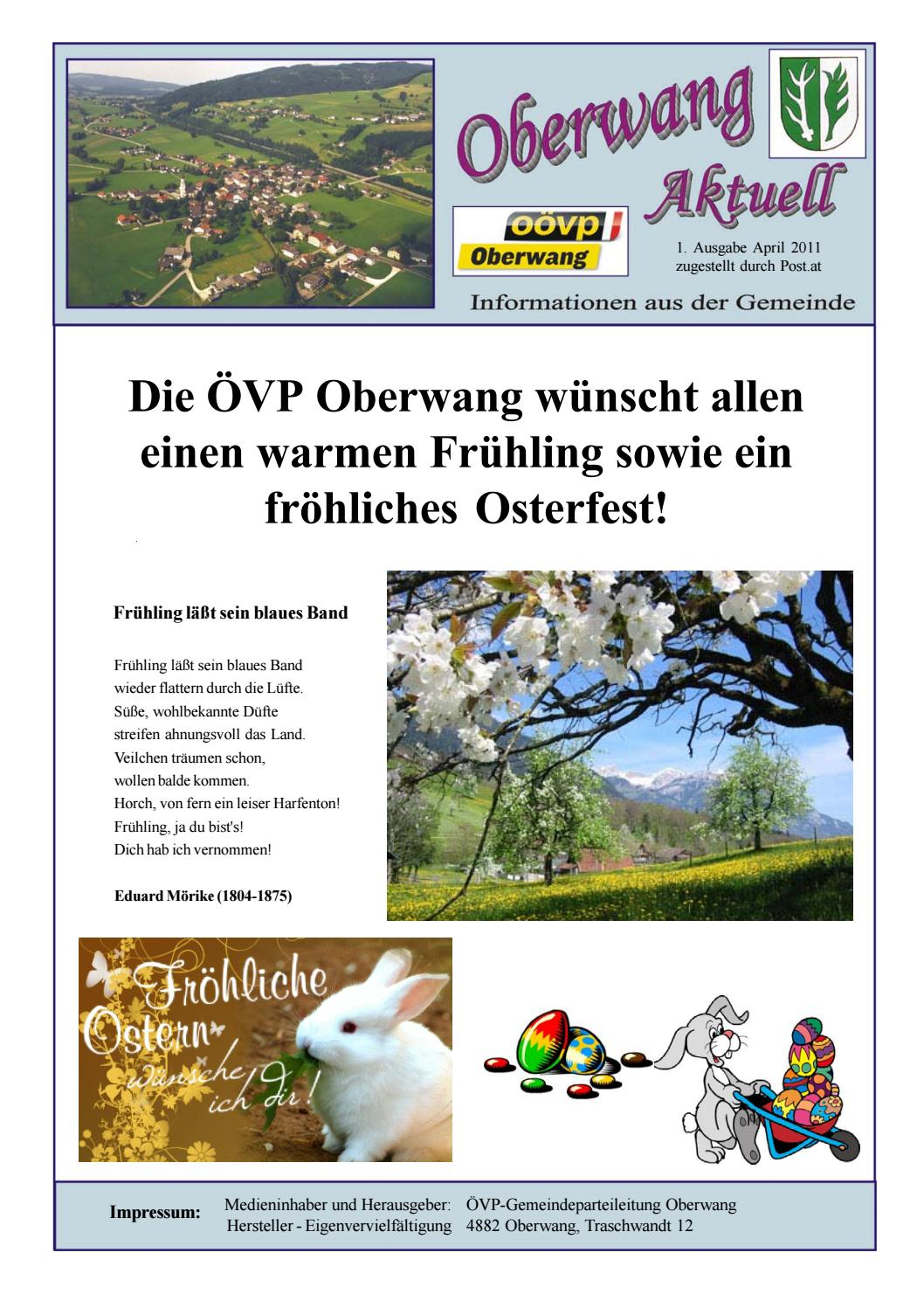 Oberwang Aktuell 1_2011 by Christina Knoblechner issuu
