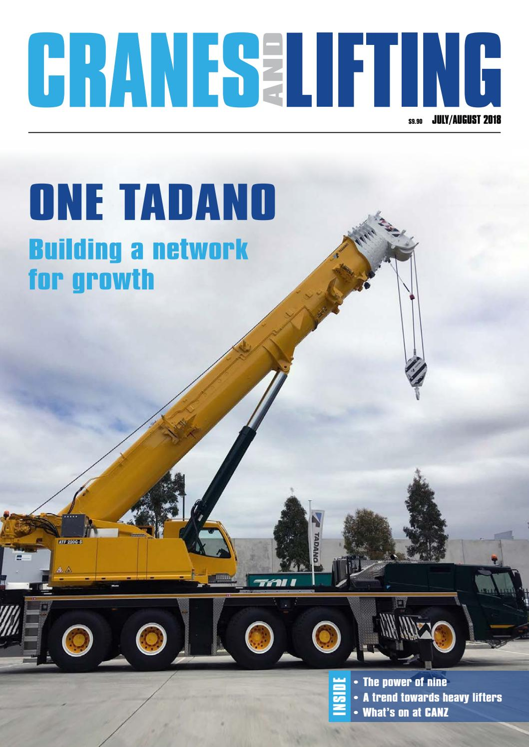 CRANES AND LIFTING: July/August 2018 by Mayfam Media - issuu on