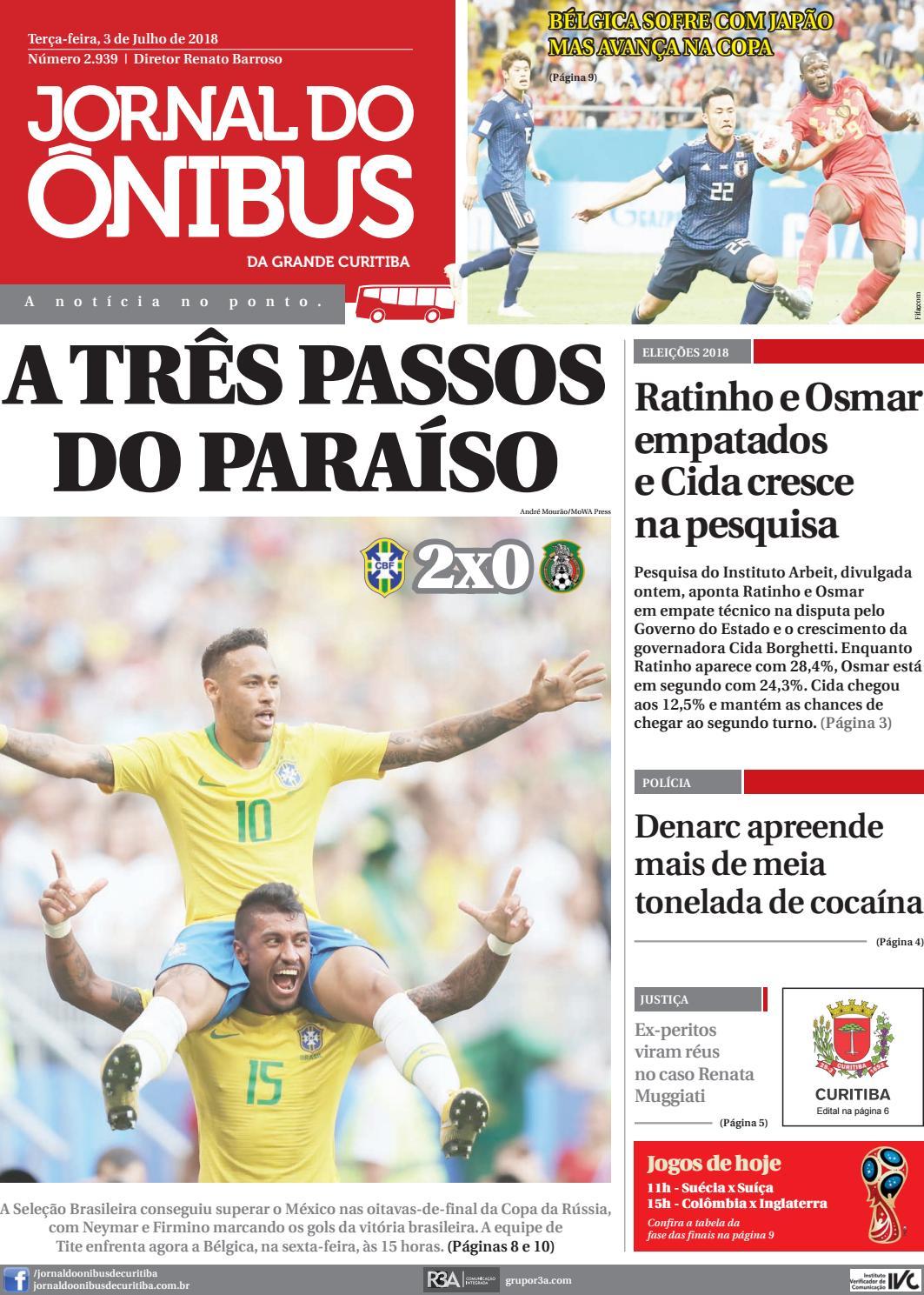 Jornal do Ônibus de Curitiba - 03 07 18 by Editora Correio Paranaense -  issuu 656ea7e1307b4