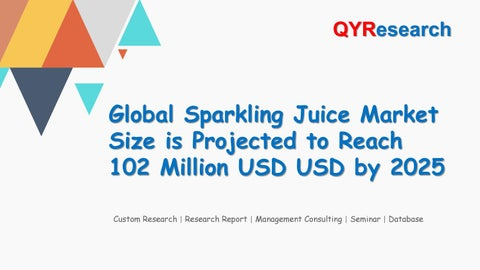 Global Sparkling Juice Market Size is Projected to Reach 102 Million