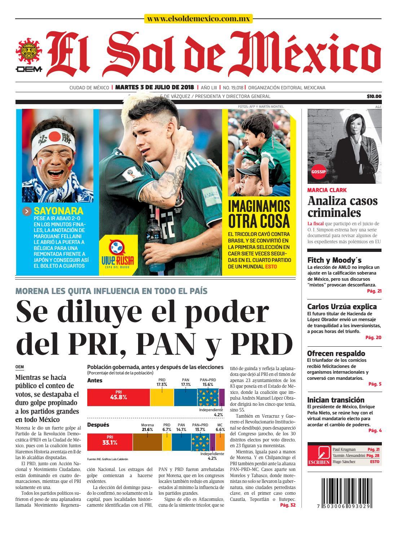El Sol de México 3 de julio 2018 by El Sol de México Online - issuu cd4b7e8301b34