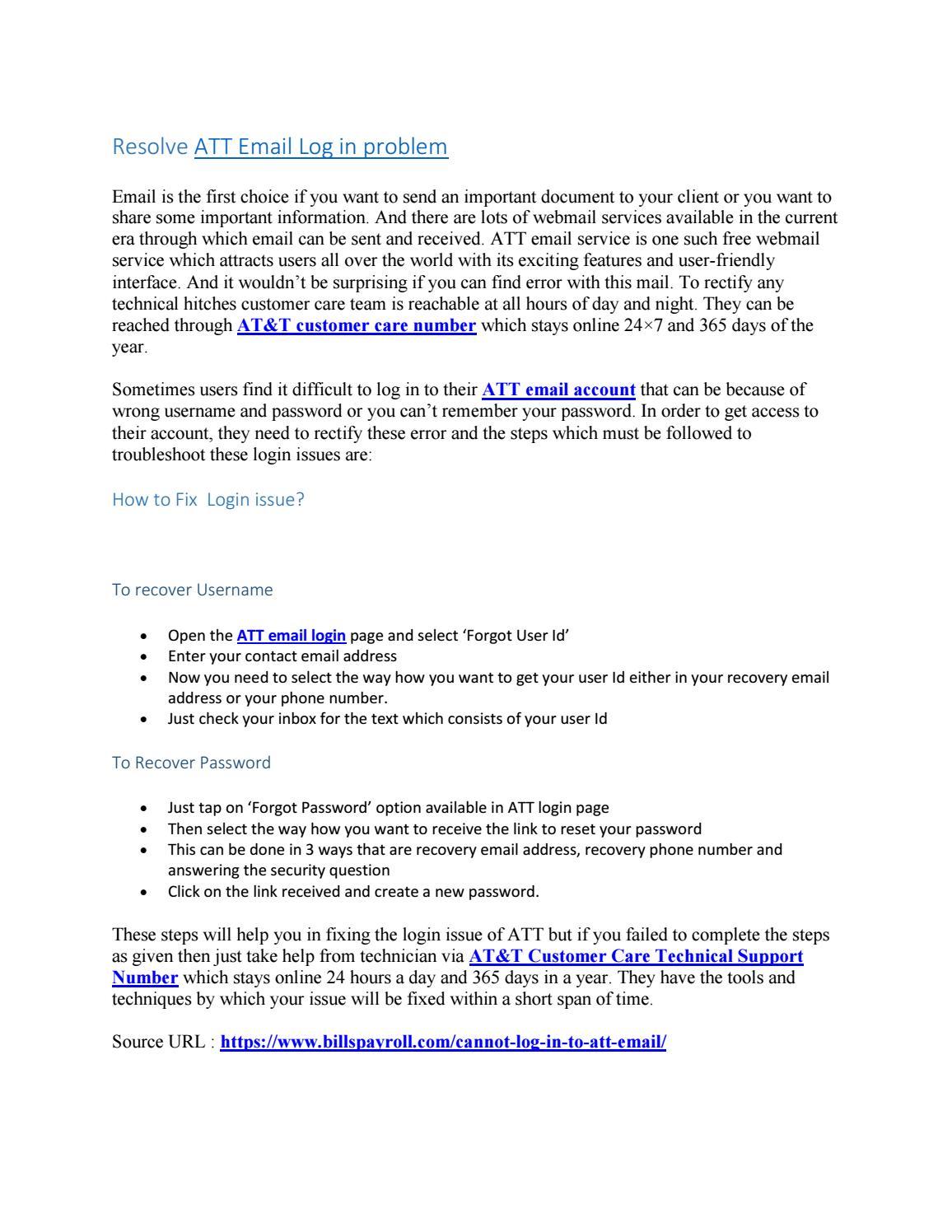 att email log in problem   1-844-787-7041 by alishamacormac - issuu