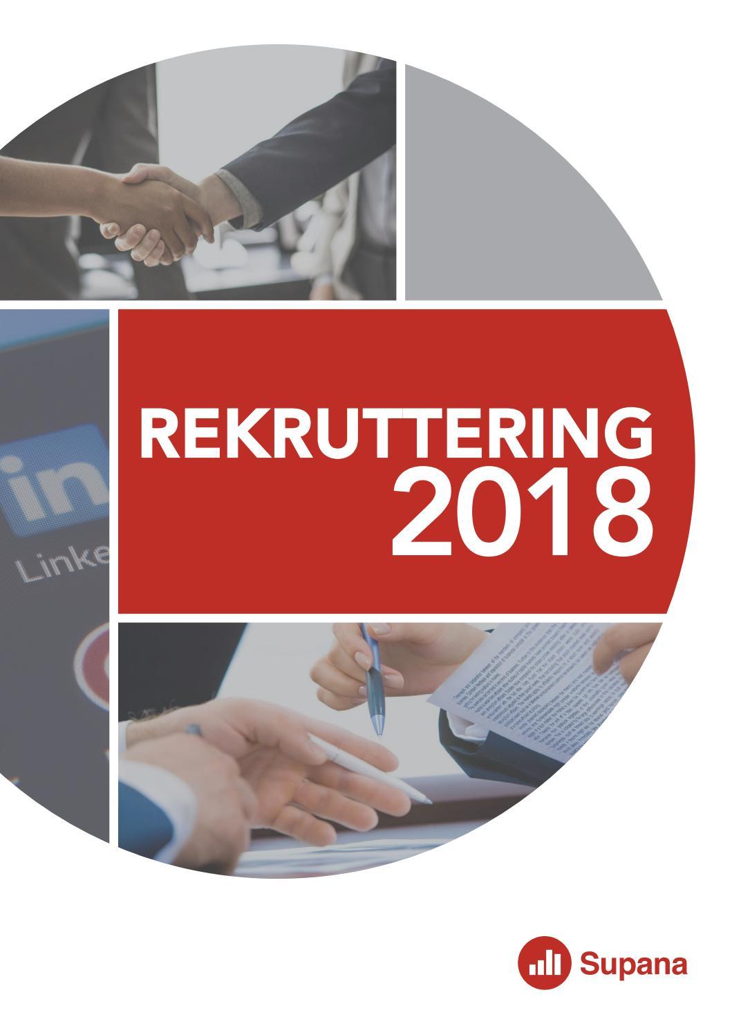 fa5020a1ed13 Brancherapport Rekruttering 2018 by Supana - issuu