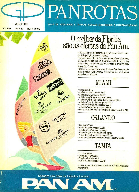 e77f5b3b396db Guia PANROTAS - Edição 196 - Julho 1989 by PANROTAS Editora - issuu
