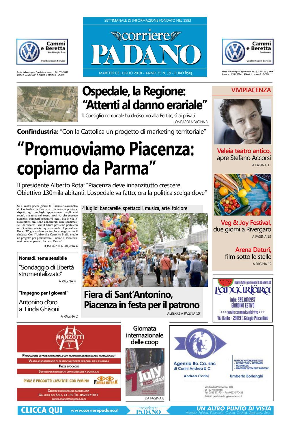 Corriere Padano 19 Del 03 07 2018 By Corriere Padano Issuu