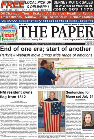 The Paper Of Wabash County July 4 Issue By The Paper Of Wabash