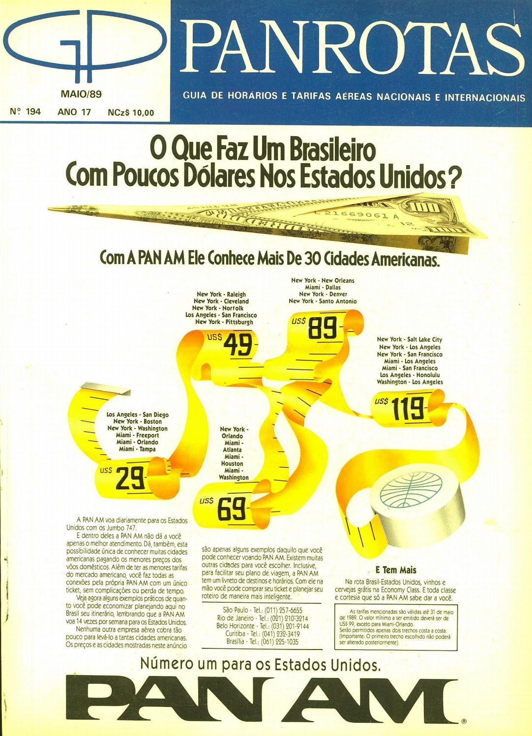 1d0f8b28bf7 Guia PANROTAS - Edição 194 - Maio 1989 by PANROTAS Editora - issuu