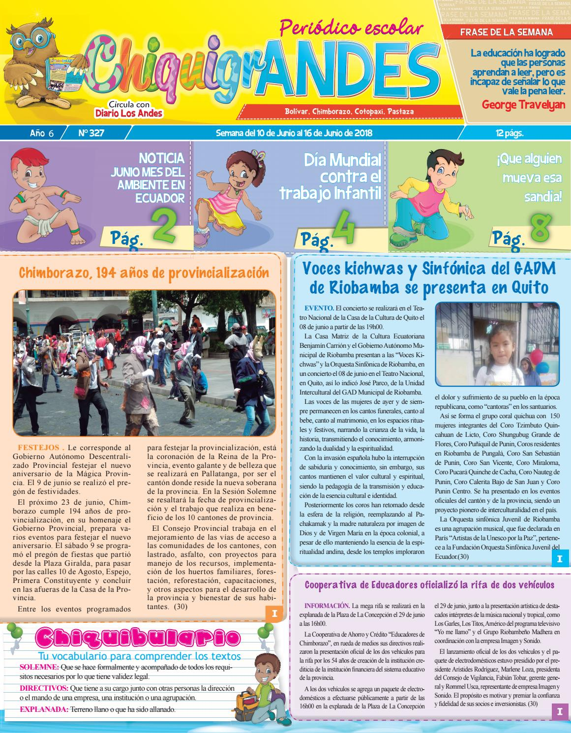 Chiquigrandes 327 By Diario Regional Los Andes Issuu