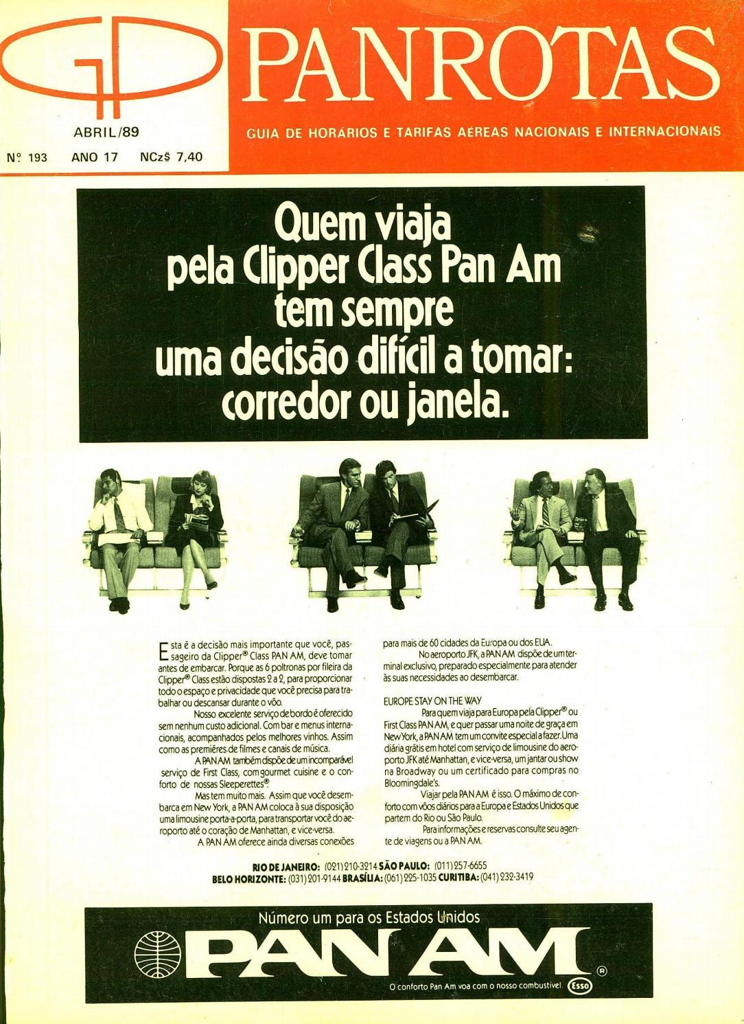 a30b23479d5 Guia PANROTAS - Edição 193 - Abril 1989 by PANROTAS Editora - issuu