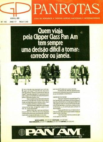 f6ce81e0bb Guia PANROTAS - Edição 193 - Abril 1989 by PANROTAS Editora - issuu