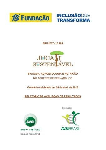 7eec0f6f7 Relatório de avaliação de resultados - Projeto Jucati Sustentável by ...
