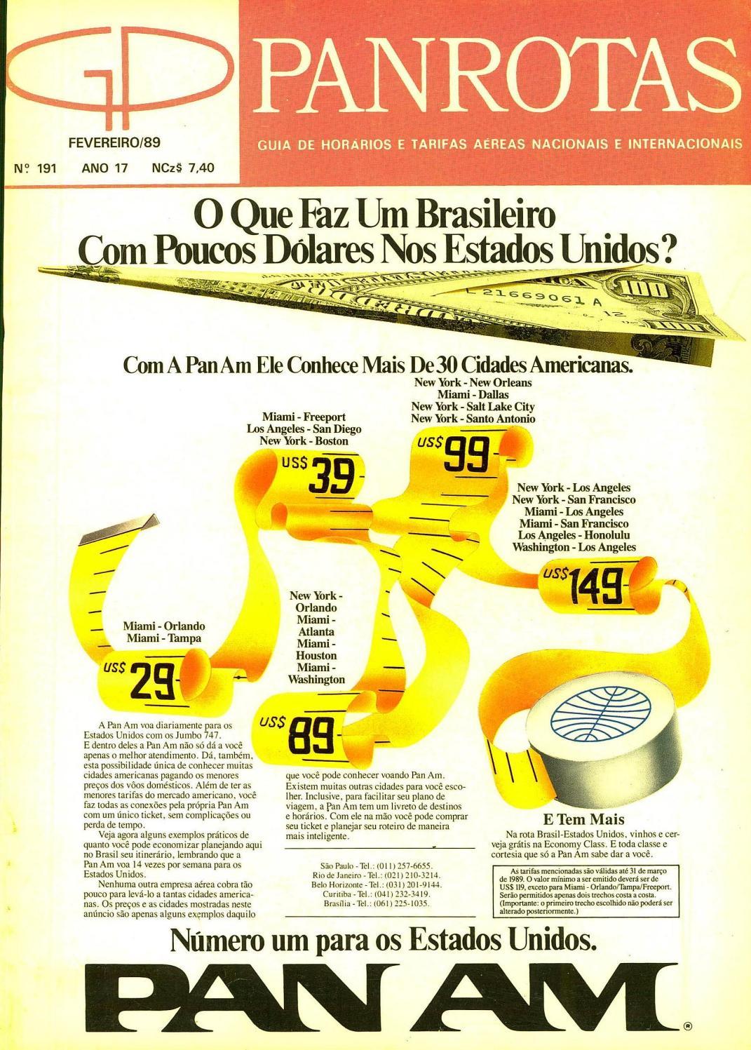 97a026e39ddcb Guia PANROTAS - Edição 191 - Fevereiro 1989 by PANROTAS Editora - issuu